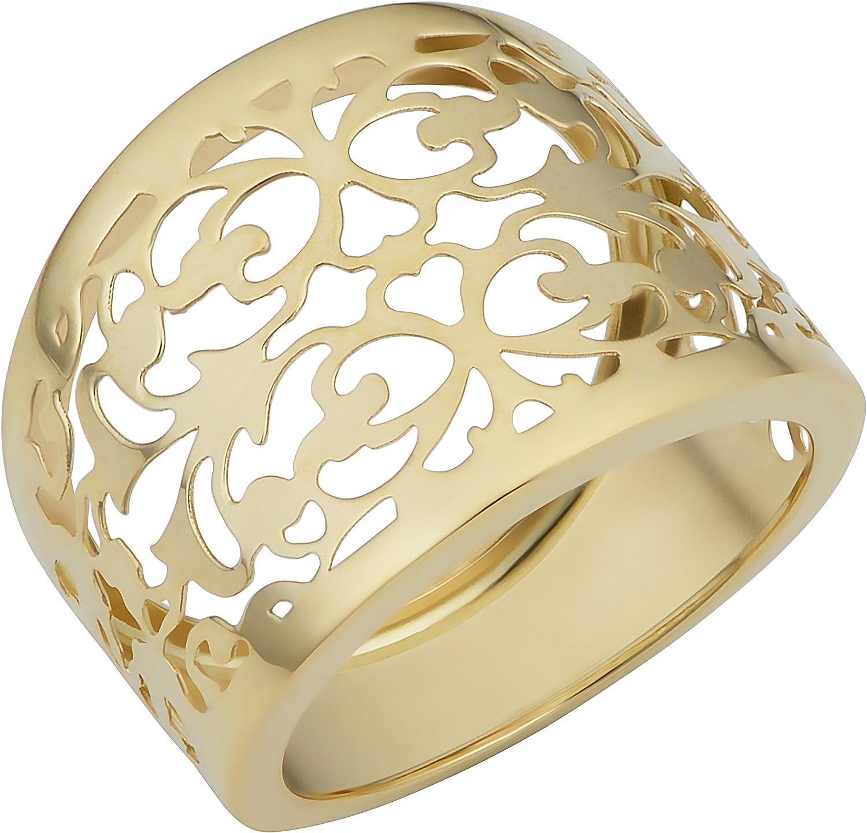Thick Band Ring Cigar Ring Gold Band Ring Gold Bold Stacking Ring 14K Gold Filled Ring