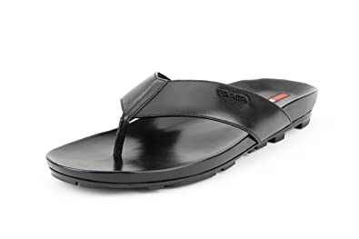 6f55572f3918 Prada Men s Calf Leather Thong Sandals