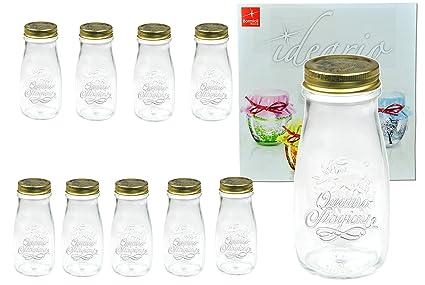 Set de 10 Quattro Stagioni Botella 0,40l incl. Cuaderno de recetas) –