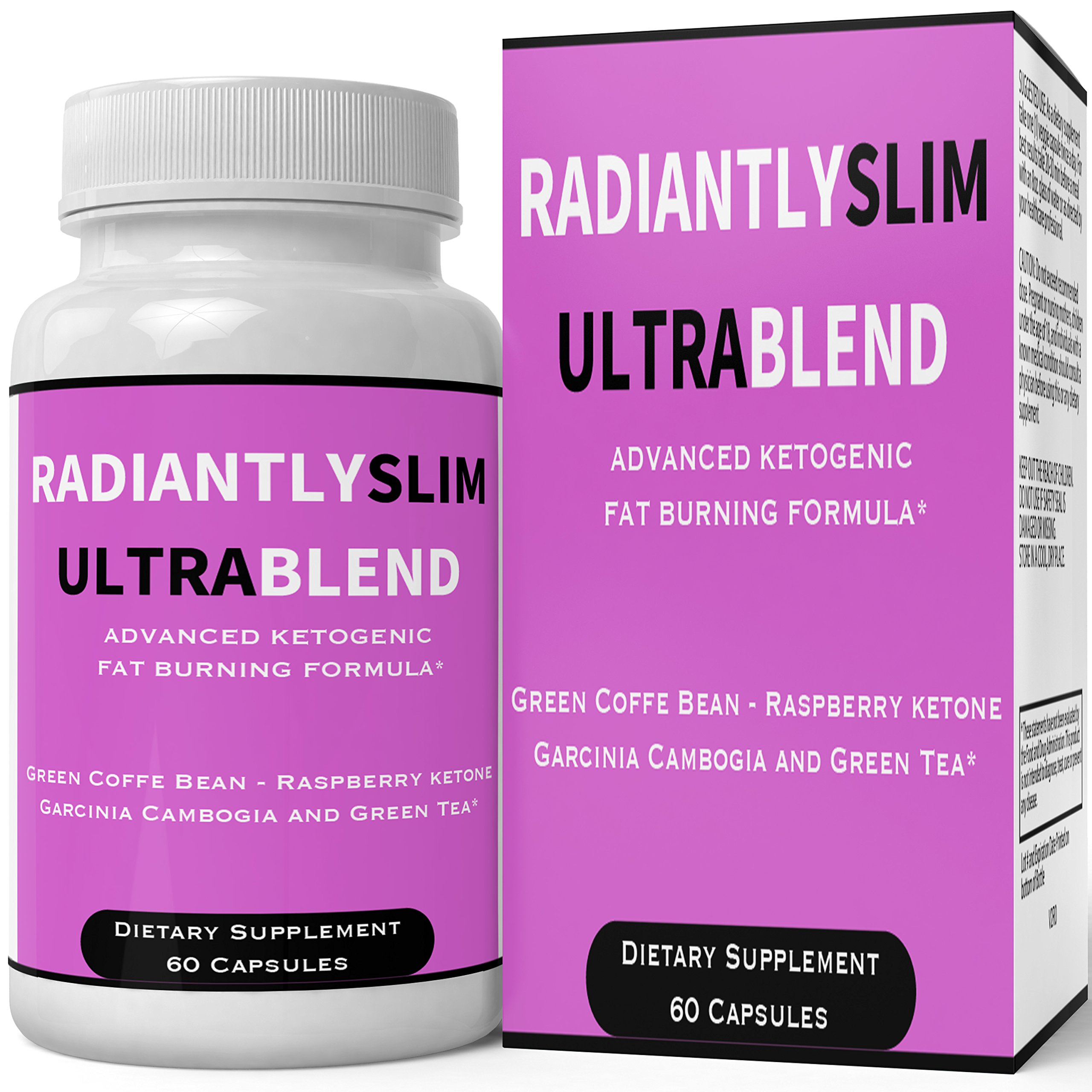 Radiantly Slim Ultra Blend Pills Weight Loss Supplement - Extreme Weightloss Lean Fat Burner | Advanced Thermogenic Fat Loss Formula Pastillas for Women Men Natural Original by nutra4health Brand by nutra4health LLC