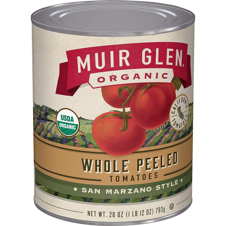 Muir Glen, Organic Whole Peeled Plum Tomatoes, 1.75 Pound (Pack of 12)