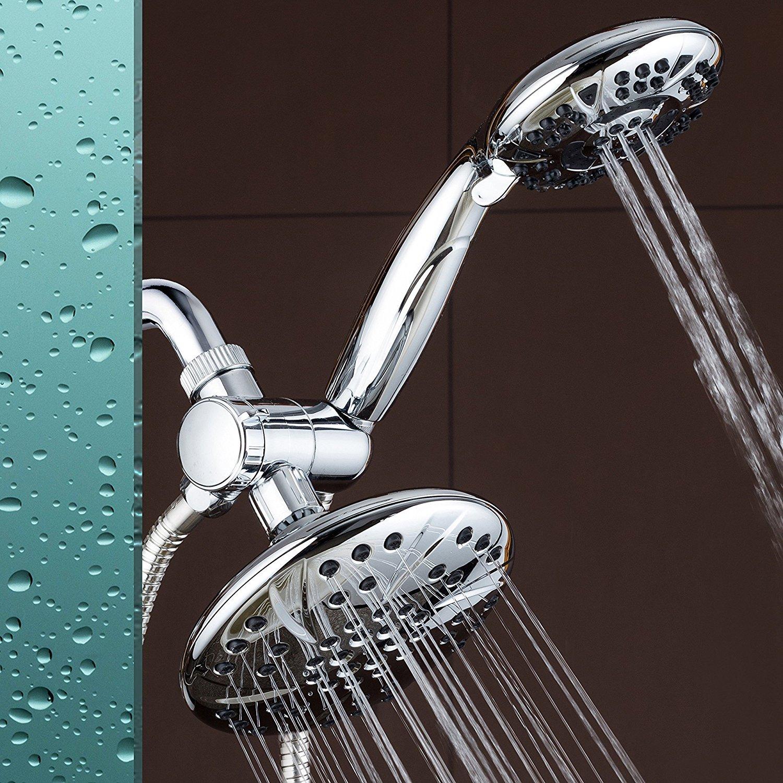 AquaDance® 6-setting functions Large 4.15-Inch Chrome Shower Head