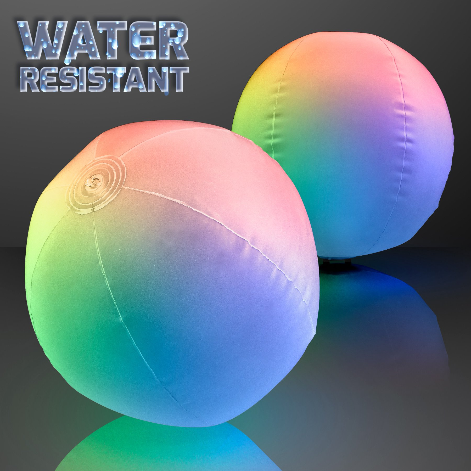 Light Up Beach Ball with Color Changing LED Lights (Set of 12) by FlashingBlinkyLights (Image #2)