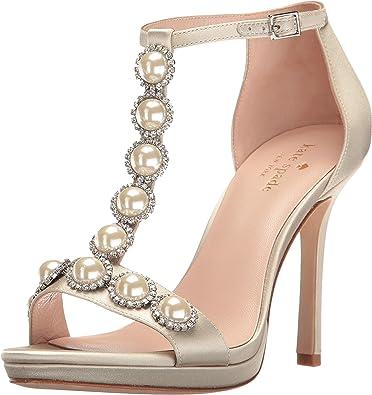 dcb93c1e47ef Amazon.com  Kate Spade New York Women s Freya Light Grey Satin Sandal  Shoes