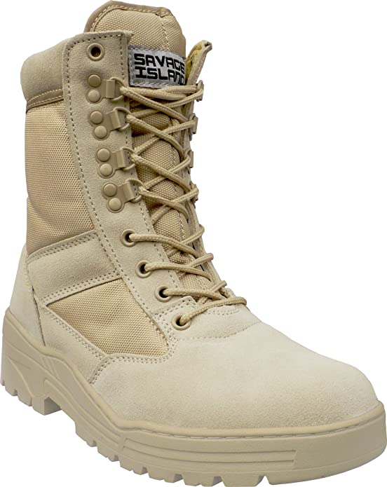 Savage Island Combat Boots Desert Suede