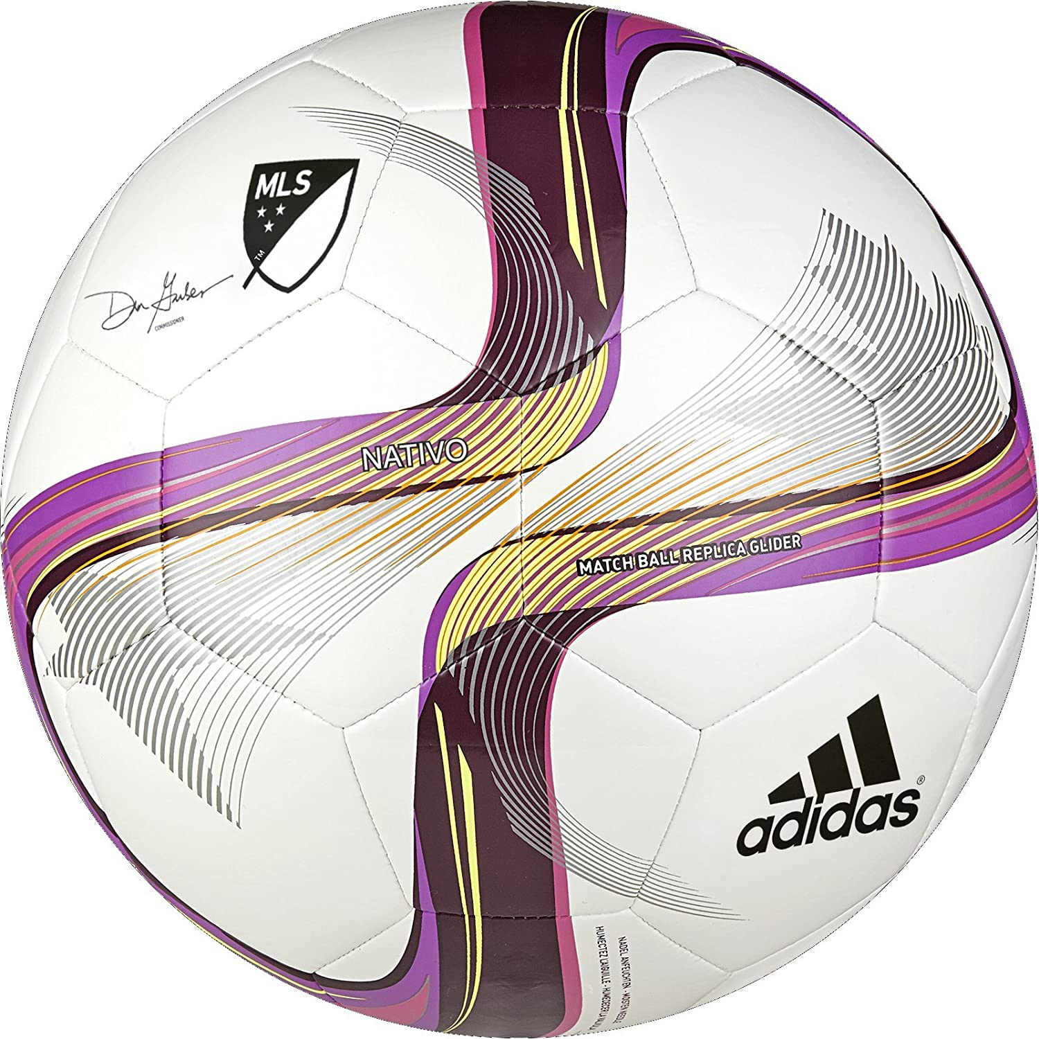 Amazon Com Adidas Performance 2015 Mls Glider Soccer Ball White Flash Pink Pink Size 4 Sports Outdoors