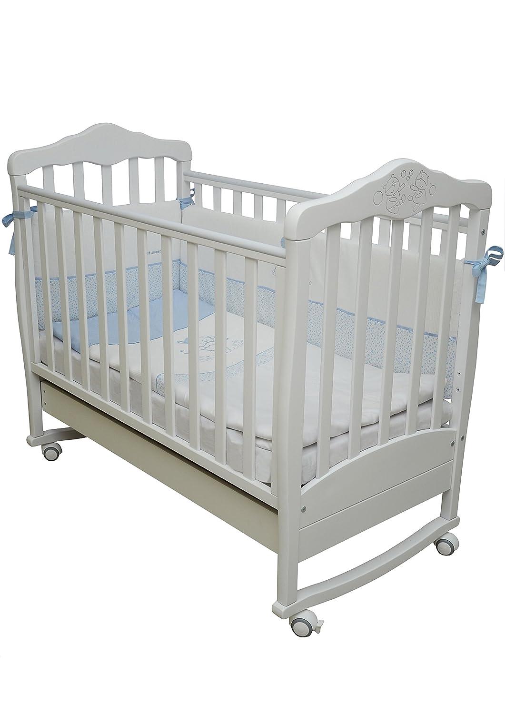Babybett Kinderbett Weiß 120x60 Buche Massivholz Neu, Athens 11.3.06