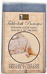 """Better Homes Vinyl Tablecloth Protector Wipes Clean Protect Linens Oblong 60""""x90"""""""