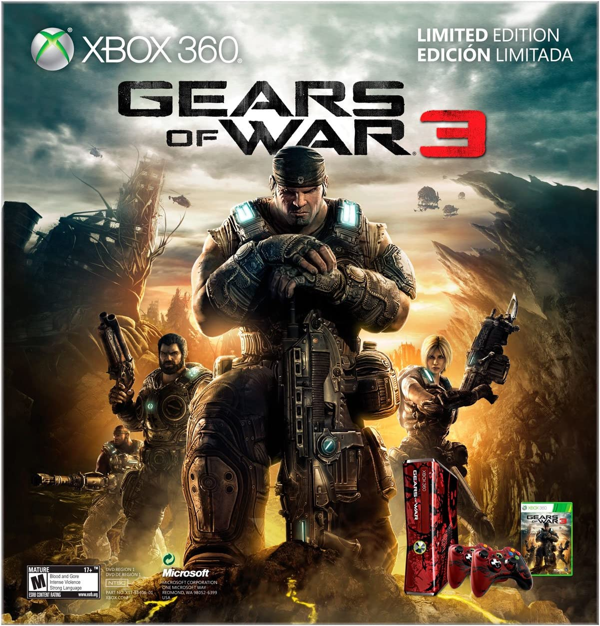 Amazon com: Xbox 360 Gears of War 3 Limited Edition Console