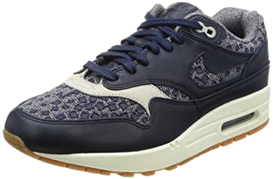 63cfc8295 Nike Air Max 1 Premium Women s Shoes Obsidian Obsidian Pale Grey 454746-403