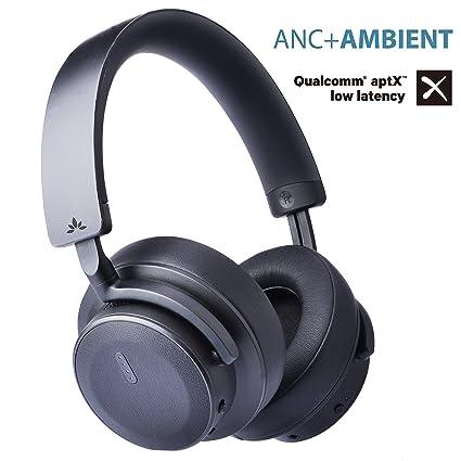 Avantree ANC041 Auriculares Bluetooth con Cancelación Activa de Ruido de Alto Rendimiento 37dB de con Amplificador