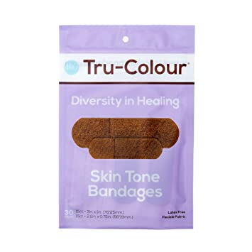 0059117b1bdb Amazon.com  Tru-Colour Skin Tone Bandages  Dark Brown-Black Single ...