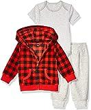 Amazon Essentials Baby 3-Piece Microfleece Hoodie Set