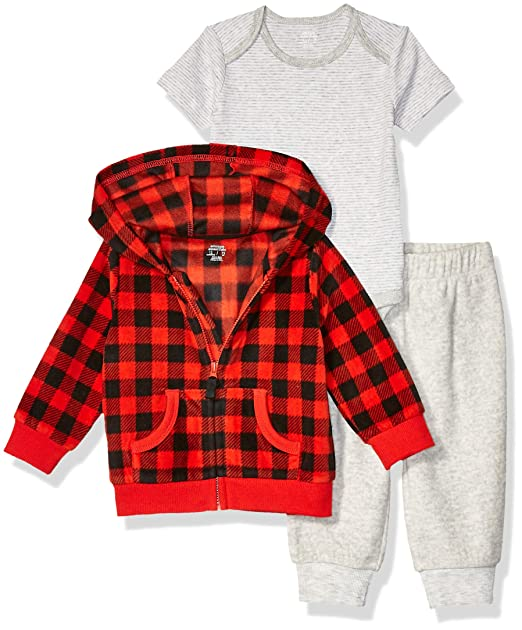Essentials Unisex Baby 2-Pack Microfleece Hooded Coverall