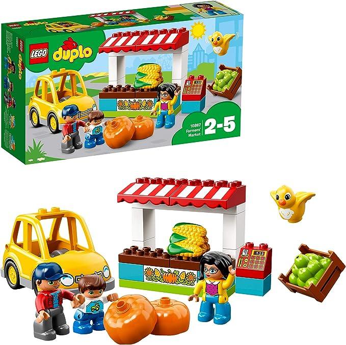 LEGO DUPLO Town - Mercado de la Granja, Juguete de Preescolar de ...