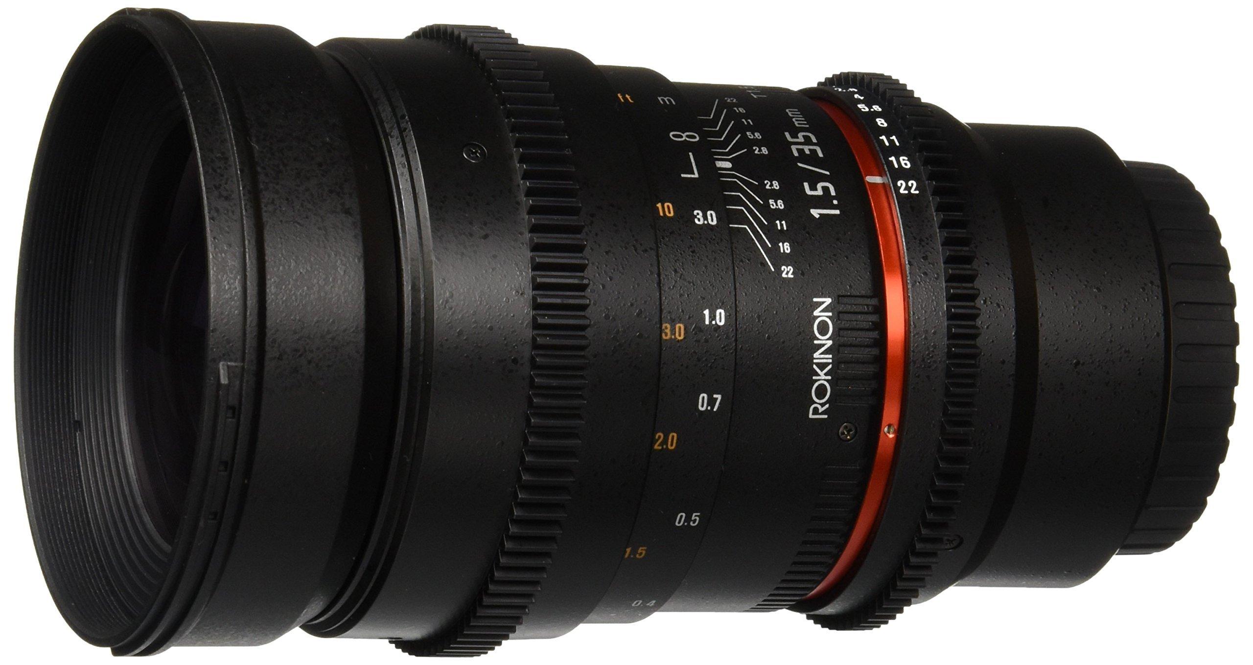 Rokinon 35mm T1.5 ED AS IF UMC Cine Wide Angle Lens for Olympus and Panasonic Micro 4/3 (MFT) Mount Digital Cameras (CV35M-MFT)