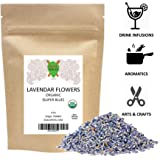 Lavender Flowers Super Blue Organic French (4 Oz)