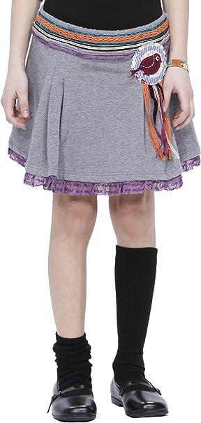 Desigual - Falda para niña, Talla 9/10 ANS - Talla Francesa, Color ...