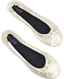 a3fbe243db9 SWEETIE Womens Wedding Gift Foldable Portable Flexable Outsole Roll Up  Ballet Flat Shoes