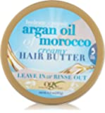 OGX Hydrate + Repair Argan Oil of Morocco, One 6.6 oz Jar, Hair and Body Butter with Shea Butter and Coconut Oil