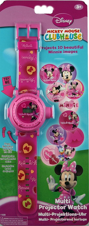 Disney Minnie Mouse Reloj Digital con fijación 10 Proyector de ...