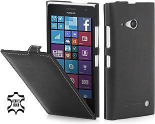 StilGut® UltraSlim, housse en cuir pour Nokia Lumia 730 et Nokia Lumia 735, en noir nappa