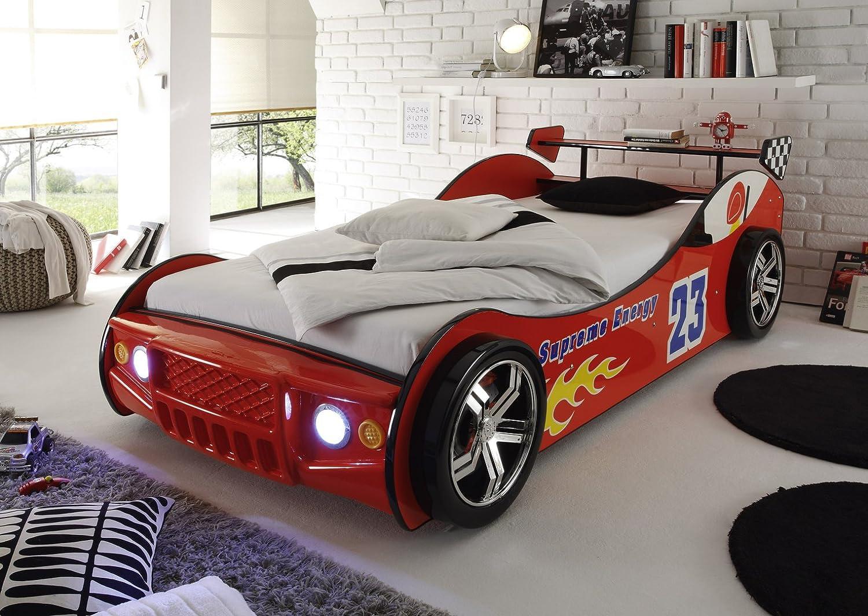 Autobett Lotus mit LED Beleuchtung Auto Bett Kinderbett Kinder ...