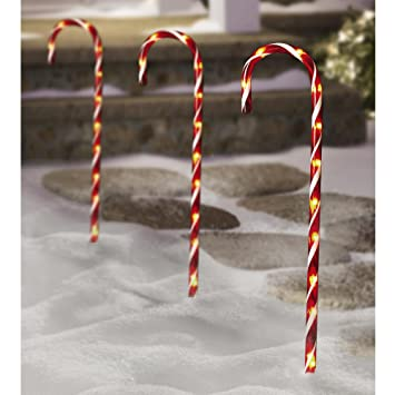 Amazon lighted candy canes 28 high bundle of 6 2 3pks lighted candy canes 28quot high bundle of 6 2 3pks indoor workwithnaturefo