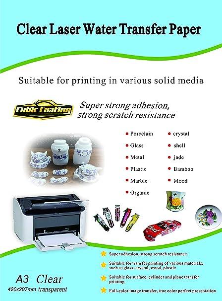 Waterslide - Adhesivo de papel transparente para impresora ...
