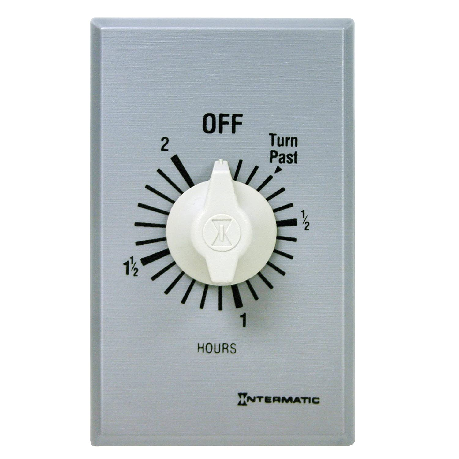 81gq9QCh2CL._SL1500_ intermatic ff2h 2 hour spring loaded wall timer, brushed metal  at webbmarketing.co
