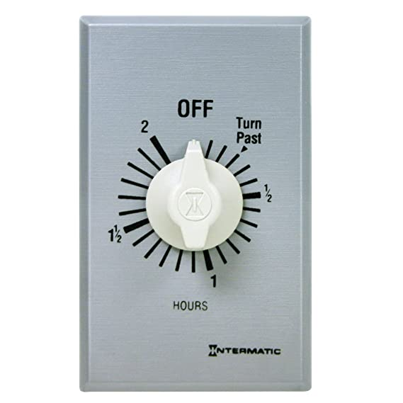 Intermatic FF2H Timer, Brushed Metal Finish - Timer Wall Switch - Amazon.com