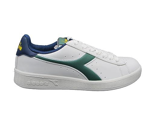 Diadora Game P Sneakers Bianco Verde Blu 160281-C7040 - 38, Bianco