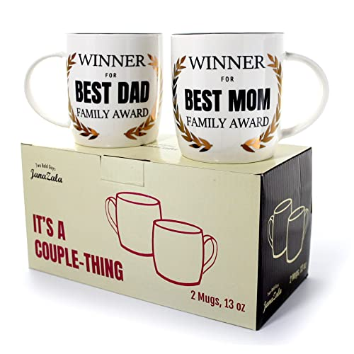 Janazala Best Mom And Dad Coffee Mugs Winners Funny Gift For Parents Anniversary