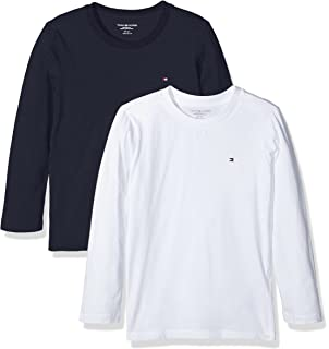 92b3f458ff3a3 Tommy Hilfiger Boy s T-Shirt Pack of 2  Amazon.co.uk  Clothing