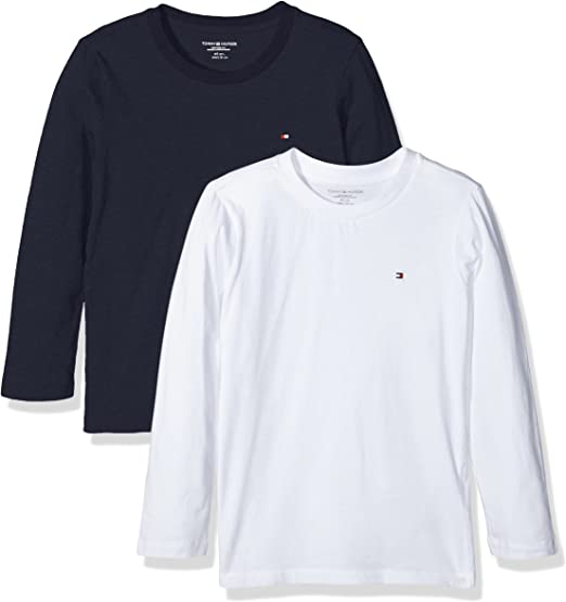 Tommy Hilfiger Girls Basic Cn Knit L//S Camiseta para Ni/ñas