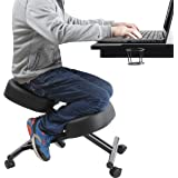 Ergonomic Kneeling Chair Home Office Chairs Thick Cushion Pad Flexible Seating Rolling Adjustable Work Desk Stool Improve Pos