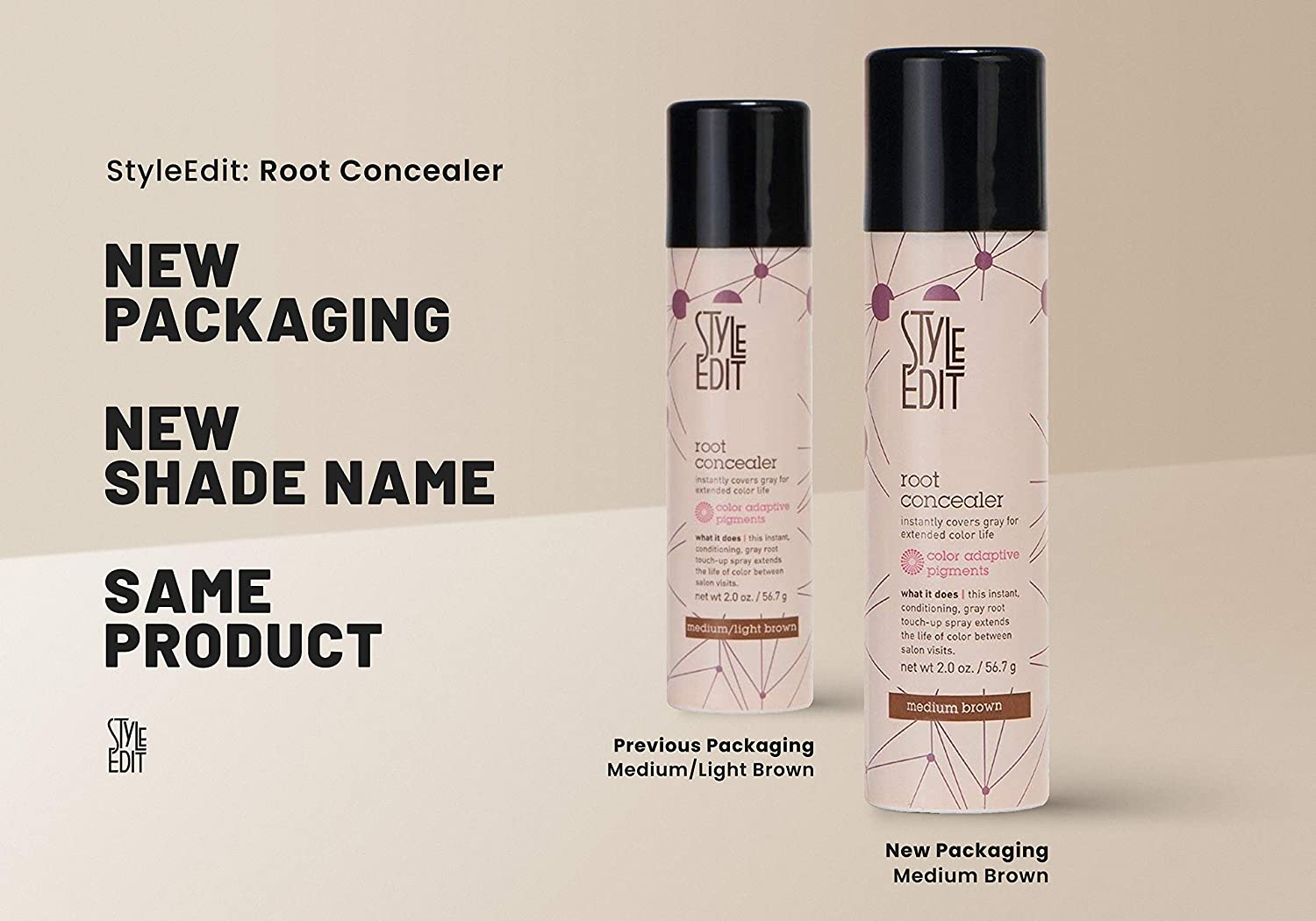 Amazon Style Edit Conceal Spray 2 Ounce Medium Brown Pack Of