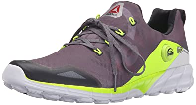 Reebok Men's Reebok Zpump Fusion 2.0 Running Shoe, Alloy/Tin Grey/Solar  Yellow
