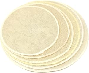 Honbay 12PCS Pure Cotton Round Reusable Steamer Liners Mesh Pads Cooking Steam Mats Breathable Cloth Filters for Home and Restaurant (6 sizes)