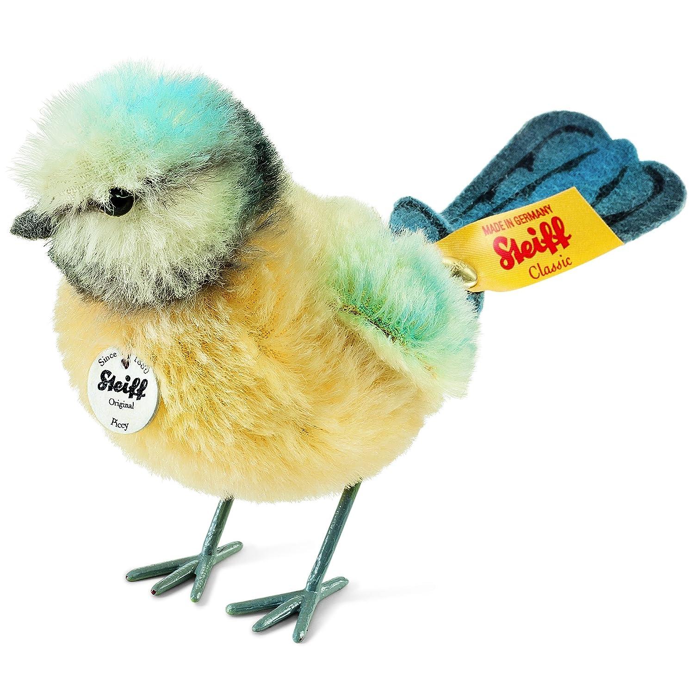Steiff Piccy Blaumeise Plüsch-Spielzeug (gelb-blau-weiß)