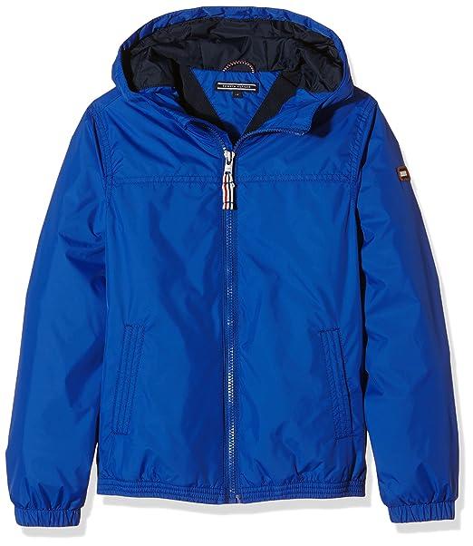 Tommy Hilfiger Basic Jacket, Abrigo para Niños, Azul (Surf the Web 424), 158: Amazon.es: Ropa y accesorios