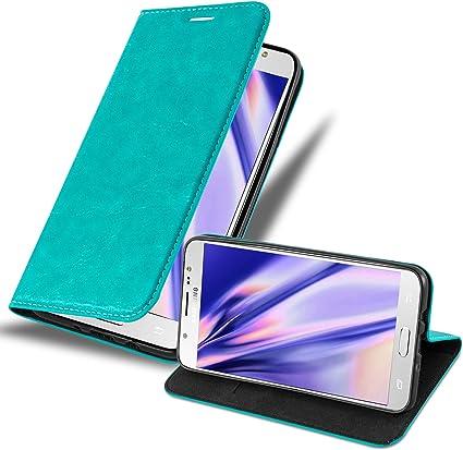Cadorabo Funda Libro para Samsung Galaxy J7 2016 en Turquesa ...