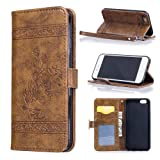 iPhone 7 Case, iPhone 7 Leather Case,Nacycase Candywe iPhone 7 Brown Premium PU Leather Card Slot /Cash Style with Back kickstand Magnetic Flip Cover Case for iPhone 7