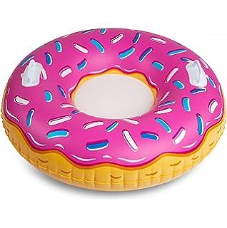 BigMouth Inc BMT-BMST-PD Trineo hinchable donut fresa, Multicolor