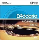 D'Addario EZ940 Great American Bronze Light  (.010.-050) 12-String Acoustic Guitar Strings