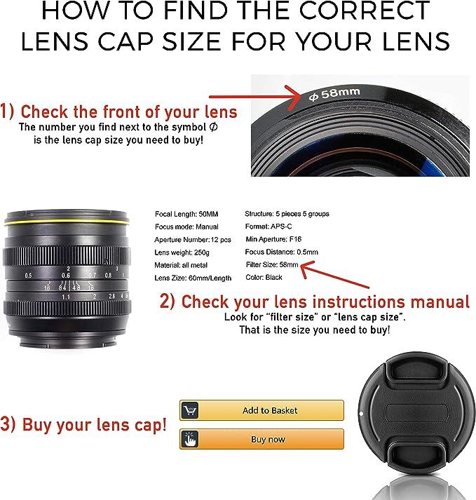 Universal 95mm Objektivdeckel lens cap für Kamera Objektive