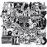WayOuter Zwart Wit Gothic Retro Schedel Stickers 100 stks Vinyl Decals voor Laptop Stickers Motorfiets Fiets Skateboard…