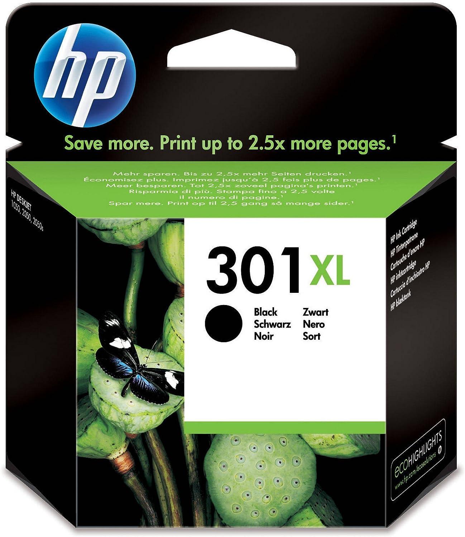 HP 301XL cartouche d'encre noire grande capacité authentique pour HP Envy 4505 et HP DeskJet 1050151225483057A (CH563EE)