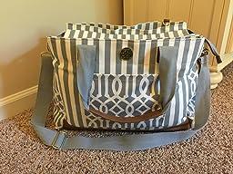 mud pie bigger bundle diaper bag gray. Black Bedroom Furniture Sets. Home Design Ideas