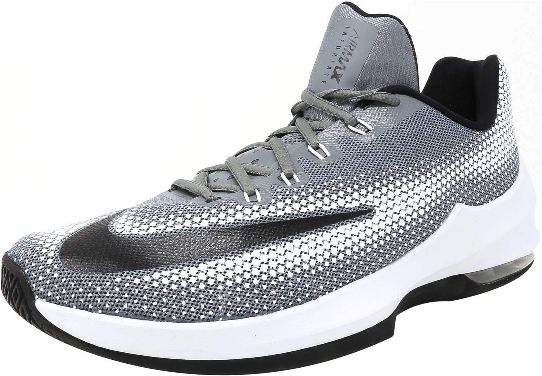 NIKE Men's Air Max Infuriate Low Basketball Shoe B01LEIYI68 Medium|Coolgrey/Black/White
